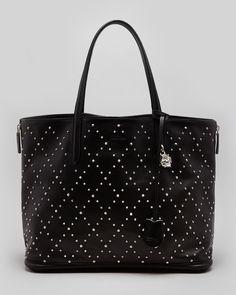 Alexander McQueen Studded Padlock Medium Shopper Tote Bag, Black - Neiman Marcus