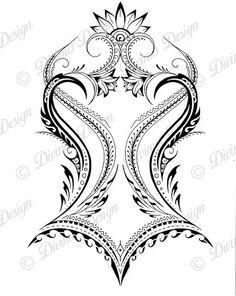 African Polynesian Back Tattoo and Stencil Instant Digital / Etsy maori tattoo - maori tattoo women Polynesian Tattoos Women, Tribal Tattoos For Women, Hawaiian Tribal Tattoos, Polynesian Tattoo Designs, Back Tattoo Women, Polynesian Tattoo Meanings, Samoan Tribal, Filipino Tribal, Tribal Tattoos With Meaning
