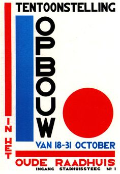 History Dutch Graphic Design    Exhibition poster designed by Paul Schutema 1926.