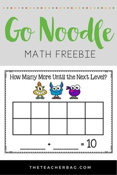 Go Noodle Math (freebie) - incorporate math with your brain break favorites!