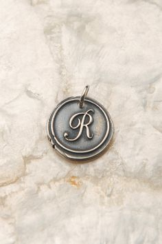 R Initial Charm R Monogram Charm Personalized Mommy by therhouse, $22.00