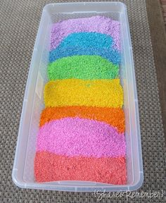 Make rainbow rice to throw after the ceremony: looks beautiful in pictures!