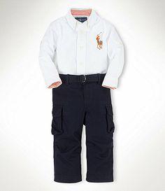 419d87143078 Ralph Lauren Childrenswear 1224 Months Polo Shirt and Pants Set