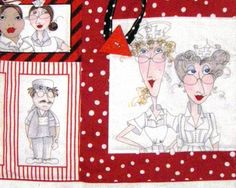 Nurse Tote Loralie Nifty Nurse Design Fabric by sewsweetfinery