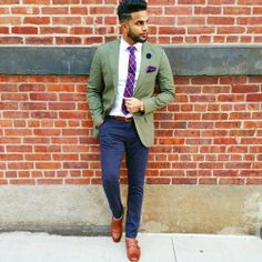 MenStyle1- Men's Style Blog - Brilliant, the colors, the pocket square, the tie...