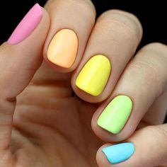 This rainbow nail design is simple yet still absolutely gorgeous.