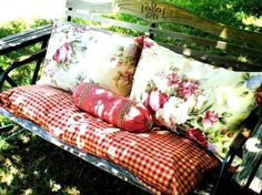 Roses and Red Gingham