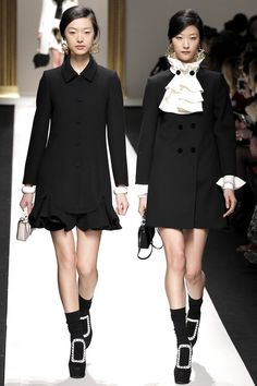 """suicideblonde: """" Doubling up at Moschino Fall 2013 """""""