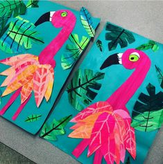 I love these sweet Grade Flamingos! We are finally starting to finish these … - Knutselen ideeën - I love these sweet Grade Flamingos! We are finally starting to finish these … - Kindergarten Art Projects, School Art Projects, Kindergarten Fun, Arte Elemental, 2nd Grade Art, 2nd Grade Crafts, Spring Art Projects, Flamingo Art, Flamingo Photo