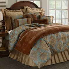 HiEnd Accents Rio Grande Western Duvet Cover Set, King: HiEnd Accents Rio Grande 7 PC Duvet Set, Complete Bed-in-bag system, King size. This bedding set provides a great western feel to any bedroom.