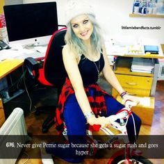 Little Mix facts - Haha love her :D. Did anyone notice that the bike says One Direction? One Direction Girlfriends, The Girlfriends, I Love One Direction, Little Mix Facts, Eleanor Calder, Cher Lloyd, Perrie Edwards, Girl Bands, These Girls