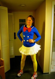 Donald Duck Costume. Technically a running costume but it is really cute! (there are lots of cute ones on this site)