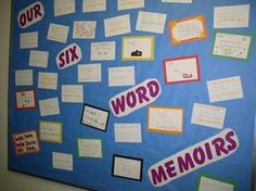 Six-Word Memoir - Students create a six-word memoir for a character Classroom Themes, Classroom Activities, Too Cool For School, Back To School, Teacher Resources, Teaching Ideas, 6 Word Memoirs, Six Words, Struggling Readers