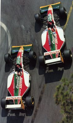 "Alessandro ""Alex"" Zanardi  and John Paul ""Johnny"" Herbert (Team Lotus), Lotus 107B - Ford HBD6 3.5 V8 ,1993 Monaco"