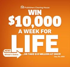 PCH Win 10 Million Dollars Sweepstakes Instant Win Sweepstakes, Online Sweepstakes, Lotto Winning Numbers, Lotto Numbers, 10 Million Dollars, Win For Life, Winner Announcement, Lottery Winner, Publisher Clearing House