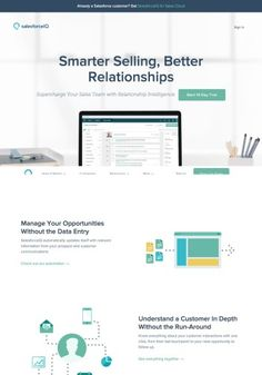 SalesforceIQ Landing Page Design Landing Page Examples, Landing Page Design, Accounting Software, Data Entry, Best Relationship, Design Inspiration, Data Feed