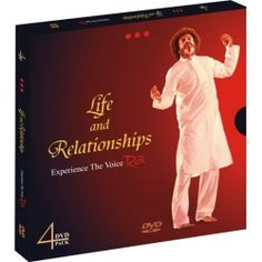 Life and Relationships    This 4 DVD pack contains the following:    1.    Where is this thing called Love?    2.    Do I need a reason to be happy?    3.    Parenting - Is it an Art or Science?    4.    Celebrate Life.       5.    Complimentary DVD on Birth of infinitheism.        6.    Complimentary Celestial Music CD – 'Alone with you'.