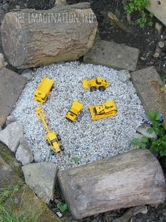 Make a construction site gravel pit for a great outdoor imaginative play area for kids to enjoy! This little play space is sure to inspire creativity and storytelling and can be used in conjunction…MoreMore #LandscapingandOutdoorSpaces