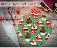 "Quilted Christmas Ornament Hot Pads - Create festive Hot Pads to dress up your kitchen! They're so fast and easy to stitch, 100% in the hoop of your embroidery machine! They make the most adorable holiday gifts and you'll want to make a set for yourself in fun holiday fabrics! Comes in three sizes for 5x7, 6x10 and 8x8 embroidery hoops.  Hoop size: 5x7, Design size: 4.84"" x 5.25""  Hoop size: 6x10, Design size: 5.63"" x 6.10""  Hoop size: 8x8, Design size: 7.14"" x 7.56""  Delivered by instant…"