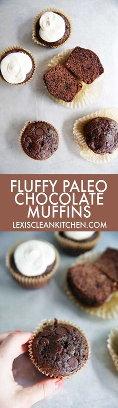 Chocolate Muffins (no refined sugar, grain-free, dairy-free) | Lexi's Clean Kitchen