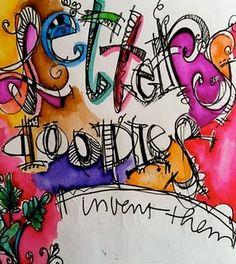 Joanne Sharpe's letter doodles