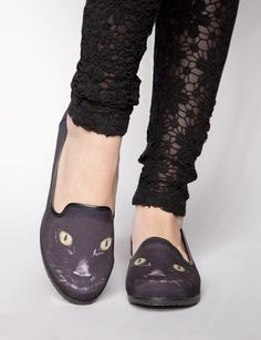 Midnight kitty loafer $66.00
