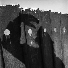 Chicago area, Shadow on a fence, 1973