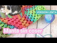 Como hacer una Manta en crochet facil rectangular sin coser | Ganchillo facil - YouTube