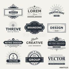 Vector: Design logo and monograms