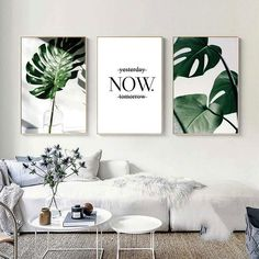 ART ZONE Nordic Canvas Painting Modern Prints Plant Leaf Art Posters Prints Green Art Wall Pictures Living Room Unframed Poster Nordic Art – Page 2 – Nordic Wall Decor Leaf Wall Art, Leaf Art, Modern Prints, Modern Wall, Living Room Paint, Living Room Decor, Paintings For Living Room, Living Room Canvas Art, Room Wall Decor