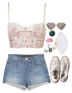 """""""cream soda"""" by naughty-nymphets ❤ liked on Polyvore featuring J Brand, Converse, Wildfox and nymphet"""
