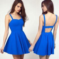 Summer Women Backless Dress Ladies Sexy Dresses on Luulla