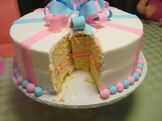 Gender Reveal Party Cake! It's a Girl!