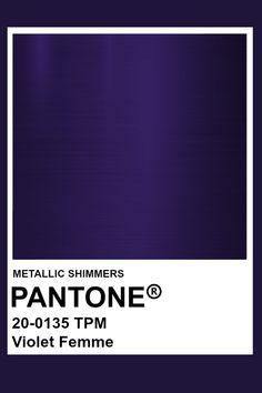 Violet Femme #Metallic #Pantone #Color Blue Painted Walls, Blue Walls, Pantone Colour Palettes, Pantone Color, Pantone Violet, Wall Colors, Paint Colors, Color Patterns, Color Charts