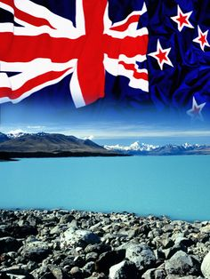 New Zealand - Flag - Mount Cook. Mount Cook and Lake Tekapo in New Zealand with , New Zealand Flag, New Zealand Beach, New Zealand Houses, Long White Cloud, White Clouds, Mount Cook, Lake Tekapo, Kiwiana, The Great White
