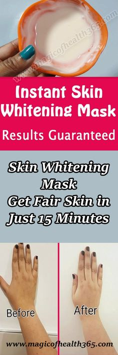 Skin Whitening Mask /Get Fair Skin in Just 15 Minutes