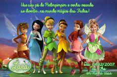 Convite digital personalizado Fadas Disney com foto 024