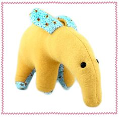 Sweatertoys (made of recycled sweaters ) -- this tapir is amazingly adorable!