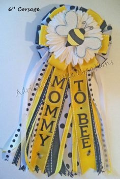 Bumble Bee Baby Shower Corsage by littlecreationz on Etsy
