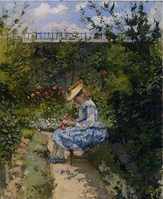 Jeanne in the Garden, Pontoise  - Camille Pissarro