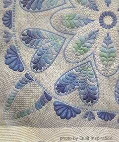 Blue Ice by Inger C. Blood, California. Photo by Quilt Inspiration.   2014 PIQF show.