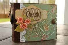 beautiful mini album - even more gorgeous when you see the whole post; loads of gorgeous tags and flip sections