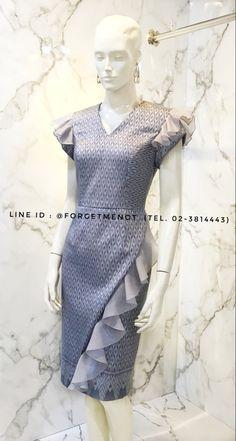 Model Dress Batik, Batik Dress, Silk Dress, Dressy Dresses, Unique Dresses, Simple Dresses, Kebaya Modern Dress, Casual Cocktail Dress, Traditional Dresses Designs