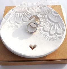 Ceramic Wedding Ring Bearer Dish Wedding Ring by BeadyMagpie