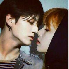 Jungkook Fanart, Foto Jungkook, Bts Jimin, Kpop Couples, Cute Couples, Romantic Couples, Bts Kiss, Cute Pink Background, 17 Kpop