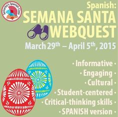 $ The SPANISH version of the Semana Santa webquest. Three pages of investigations with various types of questions. Semana Santa starts March 29th!