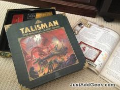 Talisman is a simple roll and move game that can go on for ages, but with a few simple modifications it becomes very accessible for younger players.