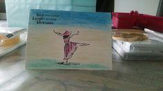 Experimenteren met watercolor pencils en beautiful you #stampinup