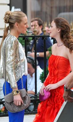 Serena, Played By Blake Lively With Best Friend Blair Waldorf During Their Summer In Paris, 2010