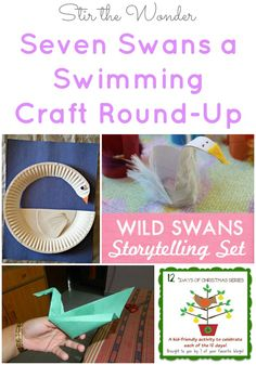 12 Days of Christmas: Seven Swans a Swimming Craft Round-Up | Stir the Wonder